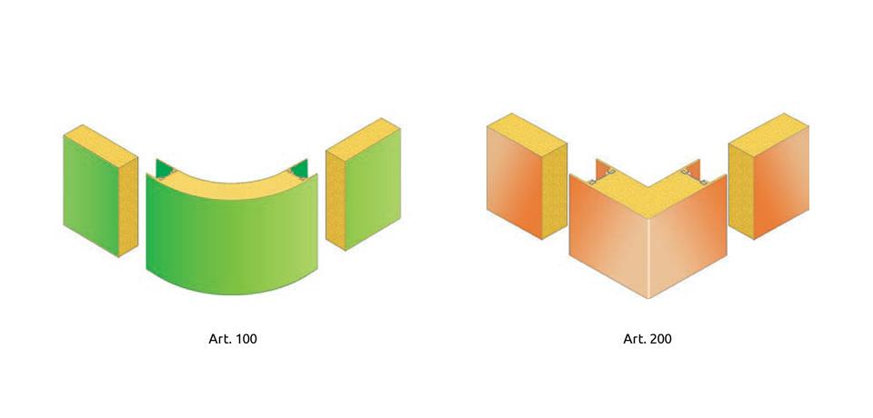Angolo schiumato (curvo e retto)   Angle foam (curved and straight) - © Copyright Elcom System Spa - Tutti di diritti riservati / All rights reserved