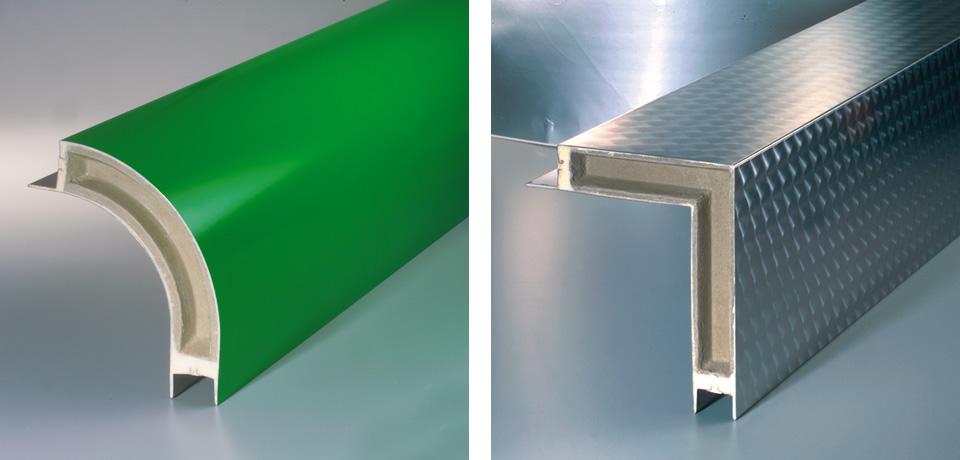Raccordo orizzontale schiumato (curvo e retto)   Horizontal siding foam (curved and straight) - © Copyright Elcom System Spa - Tutti di diritti riservati / All rights reserved