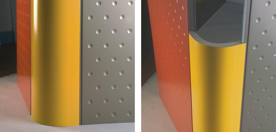 Angolo schiumato curvo   Foamed curved corner - © Copyright Elcom System Spa - Tutti di diritti riservati / All rights reserved