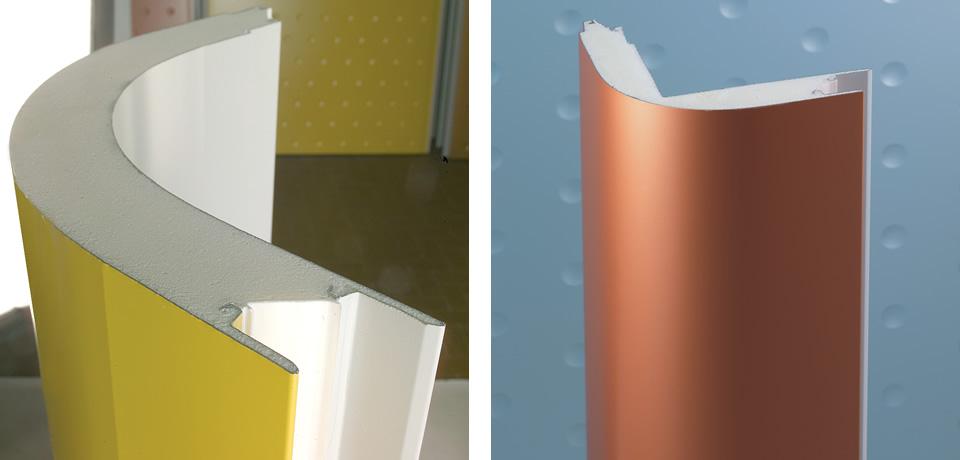Angolo schiumato curvo | Foamed curved corner - © Copyright Elcom System Spa - Tutti di diritti riservati / All rights reserved