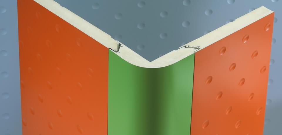 Angolo verticale schiumato curvo | Vertical angle curved foam - © Copyright Elcom System Spa - Tutti di diritti riservati / All rights reserved